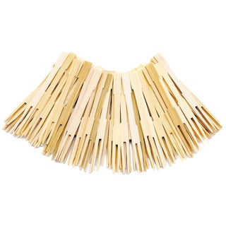 "Norpro 190 3.5"" Bamboo Party Forks"