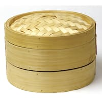 Norpro 1963 2 Tier Bamboo Steamer With Lid