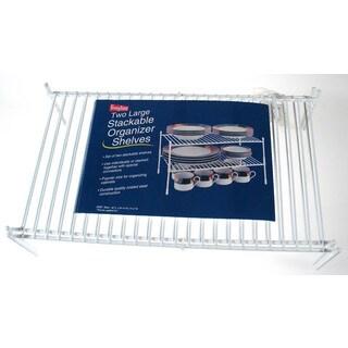"Grayline 40183 18"" X 10-1/4"" X 9-3/4""Large White Organizer Stackable Shelf"