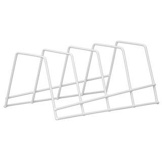"Grayline 40213 10.75"" X 5.38"" X 4.75"" White Plate Rack Organizer"