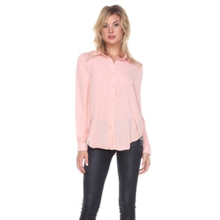 Stanzino Women's Button Down Chiffon Top