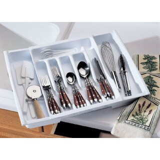 Rubbermaid 2974RDWHT Adjustable Cutlery Tray & Drawer Organizer