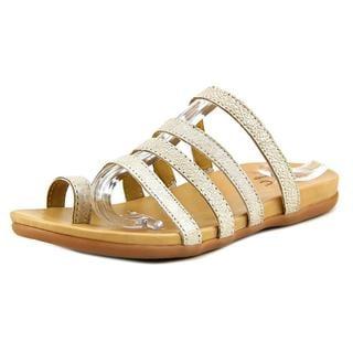 B.O.C. Women's 'Mindi' Gold Leather Sandals