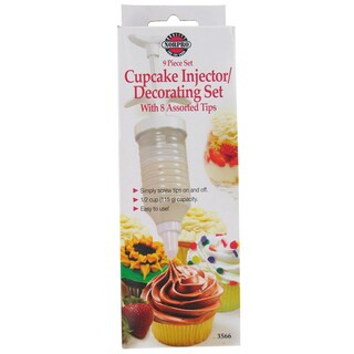 Norpro 3566 9 Piece Cupcake Injector & Decorating Set