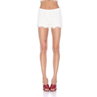 Stanzino Women's Cotton/Polyester Crochet Shorts