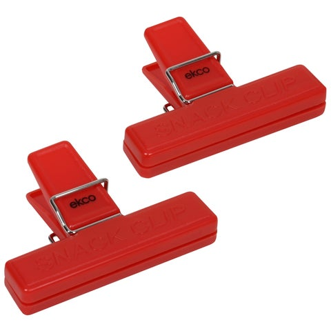 Ekco 1094976 2 Piece Red Bag Clip Set