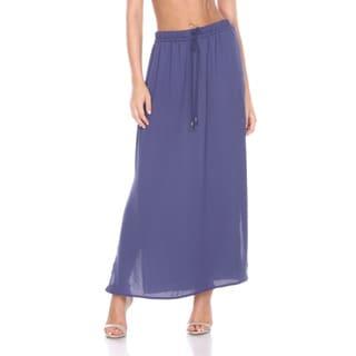 Stanzino Women's Elastic Waist Maxi Skirt