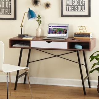 Simple Living Espresso Brown Wood/Metal Mid-century Edison Desk