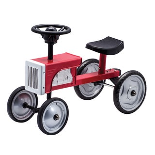 Schylling Black/Red Steel and Rubber Ride-on Tractor