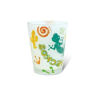 Puzzled Frosted Gecko Shot Glass