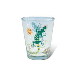 Puzzled Clear Gecko Shot Glass