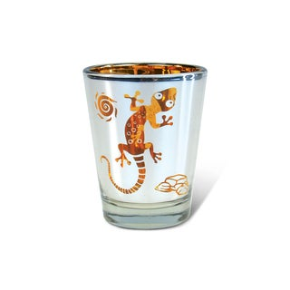 Puzzled Silver Gecko Shot Glass