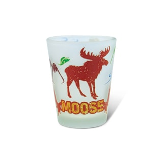 Puzzled Frosted Moose Shot Glass