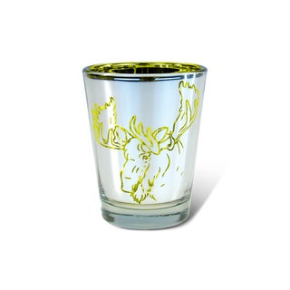 Puzzled Silver Moose Shot Glass
