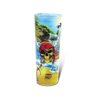 Puzzled Full Shooter Pirate Shot Glass