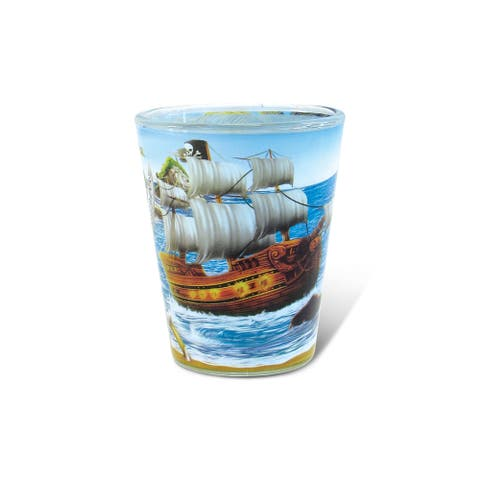 Puzzled Full Pirate Shot Glass