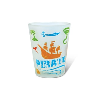 Puzzled Frosted Pirate Shot Glass