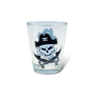 Puzzled Clear Pirate Shot Glass