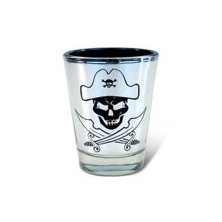 Puzzled Silver Pirate Shot Glass