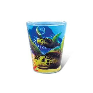 Puzzled Full Sea Turtle Shot Glass