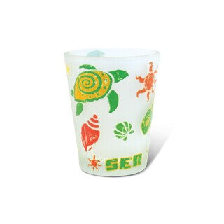 Puzzled Frosted Sea Turtle Shot Glass