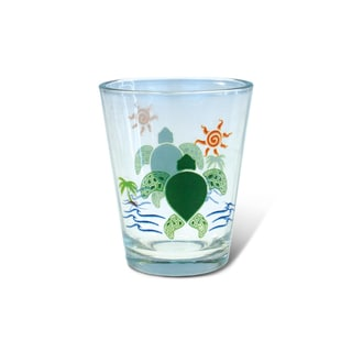 Puzzled Clear Sea Turtle Shot Glass
