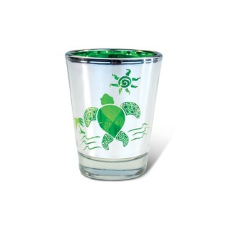 Puzzled Silver Sea Turtle Shot Glass