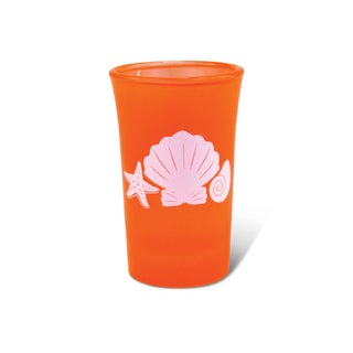 Puzzled Orange Neon Tall Shell Shot Glass