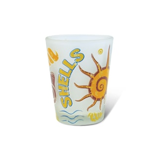 Puzzled Frosted Shell Shot Glass