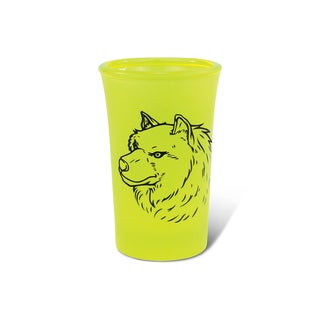 Puzzled Yellow Neon Tall Wolf Shot Glass