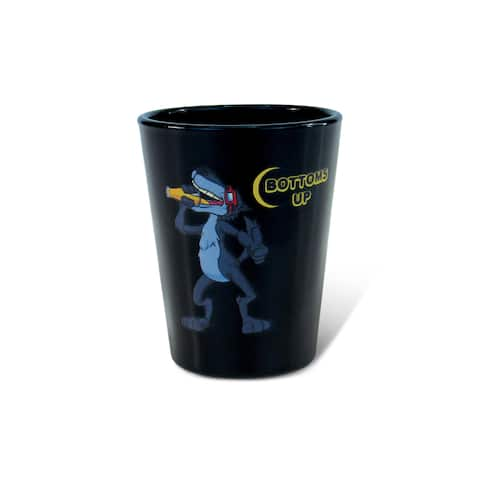 Puzzled Black Wolf Shot Glass