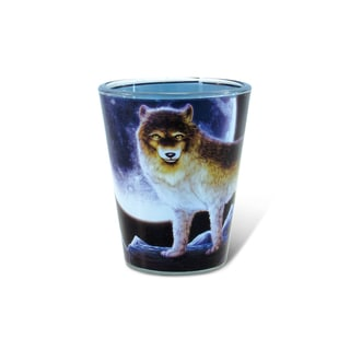 Puzzled Full Wolf Shot Glass