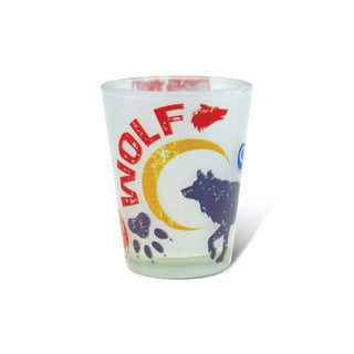 Puzzled Frosted Wolf Shot Glass