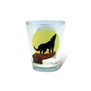 Puzzled Clear Wolf Shot Glass