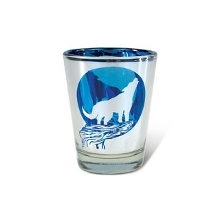 Puzzled Silver Wolf Shot Glass
