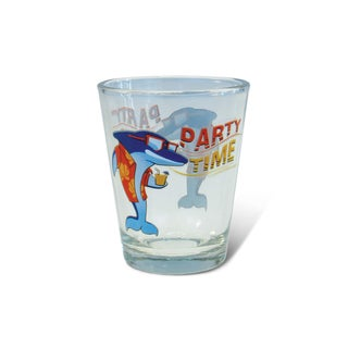 Puzzled Clear Dolphin Shot Glass