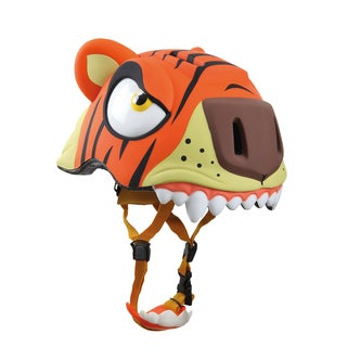 Crazy Safety Kids' Tiger Plastic Bike Helmet