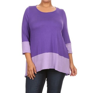 Women's Color Block Plus Size Tunic