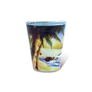 Puzzled Full Palm Tree Shot Glass