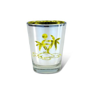 Puzzled Silver Palm Tree Shot Glass