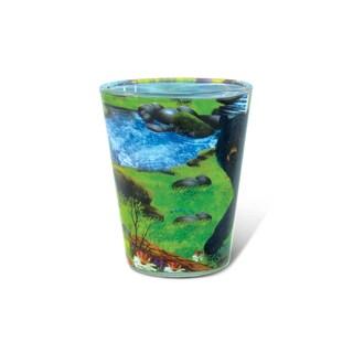Puzzled Full Black Bear Shot Glass