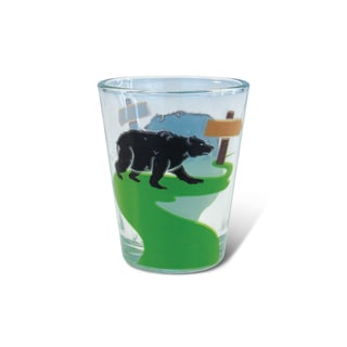 Puzzled Clear Black Bear Shot Glass