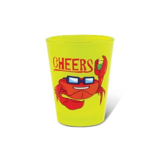 Puzzled Yellow Neon Crab Shot Glass