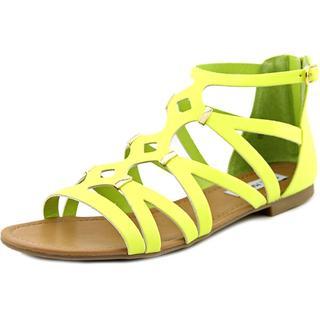 Steve Madden Women's 'Caitir' Yellow Polyurethane Sandals