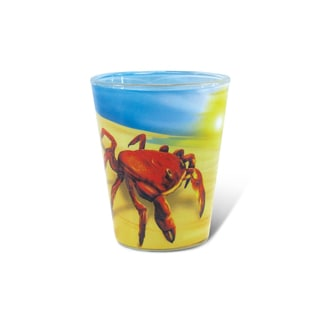Puzzled Full Crab Shot Glass