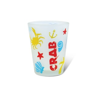 Puzzled Frosted Crab Shot Glass