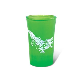 Puzzled Green Neon Tall Alligator Shot Glass