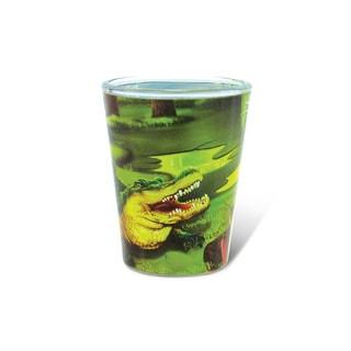 Puzzled Full Alligator Shot Glass