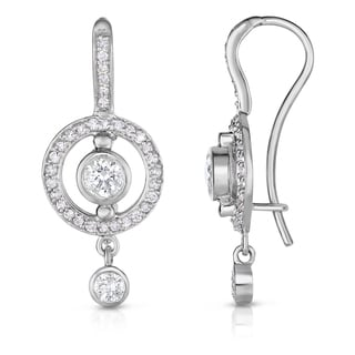 Noray Designs 14k White Gold Bezel-set 7/8ct TDW Diamond Dangle Earrings (G-H, SI1-SI2)