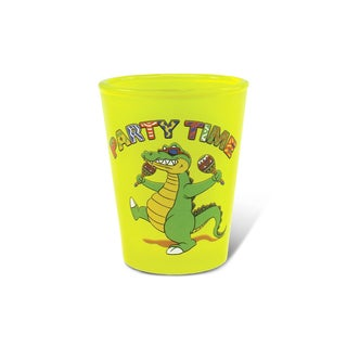 Puzzled Yellow Neon Alligator Shot Glass